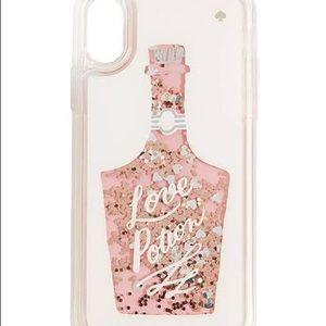 Kate Spade Clear Liquid Glitter iPhone XS Max Case